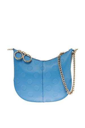 Голубая сумка с цепочкой Nina Ricci. Цвет: голубой
