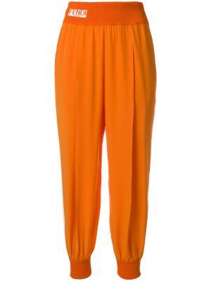 Casual fitted trousers Fendi. Цвет: жёлтый и оранжевый