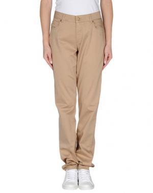 Повседневные брюки BLUE LES COPAINS. Цвет: бежевый