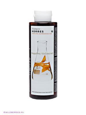Шампунь для окрашенных волос Korres. Цвет: прозрачный