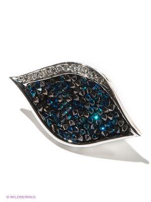 Кольцо Jenavi. Цвет: синий, серебристый