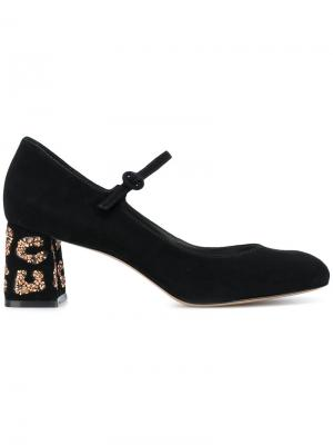 Туфли Мэри Джейн с пайетками Sophia Webster. Цвет: чёрный