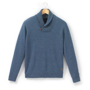 Пуловер с шалевым воротником R essentiel. Цвет: черный