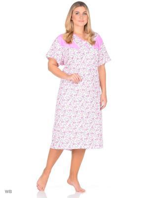 Ночная сорочка Magwear. Цвет: белый, розовый