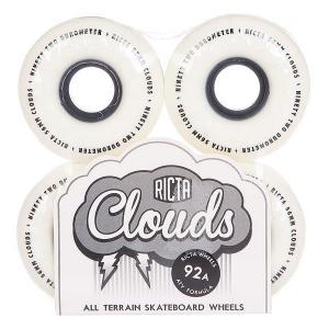 Колеса для скейтборда  Clouds Black 92A 56 mm Ricta. Цвет: черный,белый
