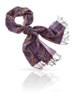 Палантин MICHEL KATANA`. Цвет: индиго, темно-красный, темно-фиолетовый