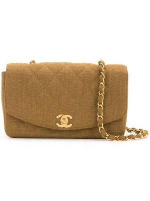 Diana 23 shoulder bag Chanel Vintage. Цвет: коричневый