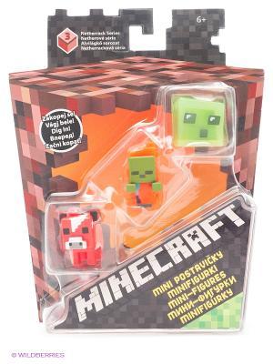 Набор из 3х фигурок персонажей Minecraft MATTEL GAMES. Цвет: синий, оранжевый, черный