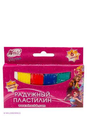 Классический восковый пластилин  Winx, 6 цветов Multiart. Цвет: розовый