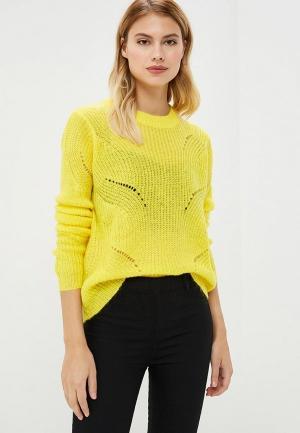 Свитер Jacqueline de Yong. Цвет: желтый