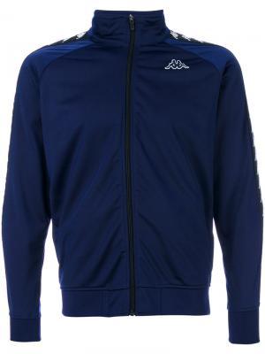 Спортивная куртка на молнии Kappa. Цвет: синий