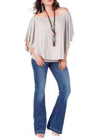 Блуза VALERIA FRATTA. Цвет: бежевый