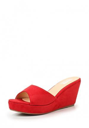 Сабо Max Shoes. Цвет: красный