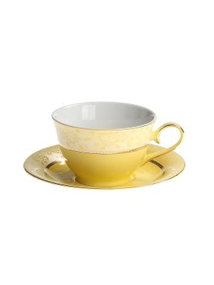 Набор чайный 2 предмета 200 мл. PATRICIA. Цвет: желтый