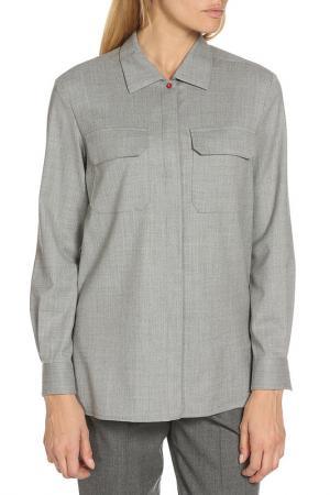 Рубашка Dondup. Цвет: серый