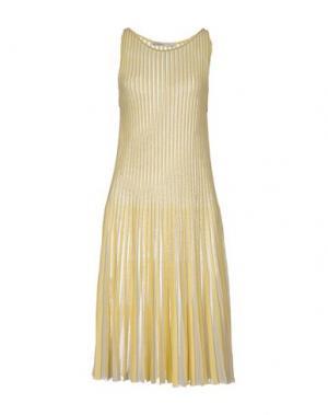 Платье до колена GENTRYPORTOFINO. Цвет: желтый