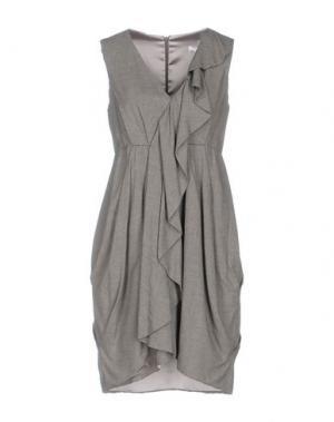 Короткое платье X'S MILANO. Цвет: серый