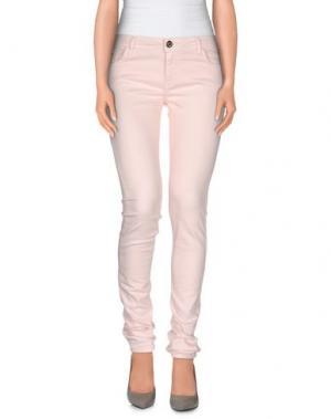 Джинсовые брюки MAISON ESPIN. Цвет: светло-розовый