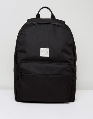 Jack Wills Черный рюкзак с логотипом Thurso. Цвет: черный
