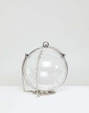 ASOS Сумка через плечо в форме шара с цепочкой. Цвет: очистить