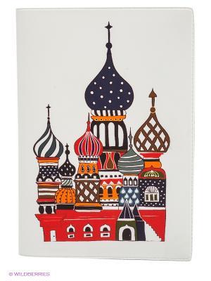Обложка для автодокументов Храм Василия Блаженного Mitya Veselkov. Цвет: белый, коричневый, красный