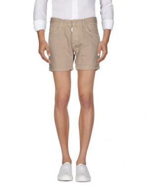 Джинсовые шорты ANTONY MORATO. Цвет: бежевый