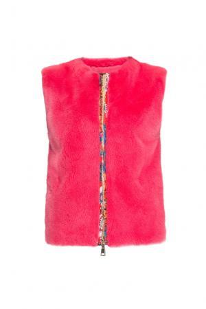 Жилет с норковой отделкой 154902 Pt Quality Furs. Цвет: красный