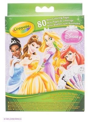 Мини раскраска Принцессы Crayola. Цвет: зеленый