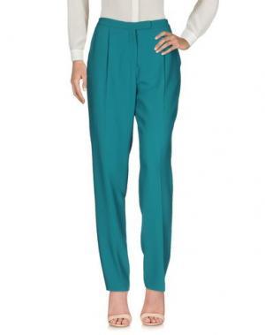 Повседневные брюки ELIE SAAB. Цвет: изумрудно-зеленый