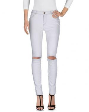 Джинсовые брюки SUPERTRASH. Цвет: светло-серый
