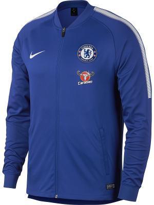 Ветровка CFC M NK DRY SQD TRK JKT K Nike. Цвет: синий, белый