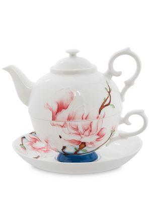 Чайный набор Цветущая сакура (Pavone) Pavone. Цвет: белый