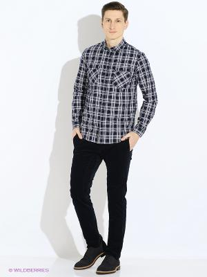 Рубашка Jack&Jones. Цвет: синий, белый