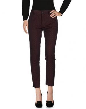 Повседневные брюки TRUE TRADITION. Цвет: пурпурный