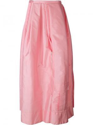 Длинная юбка с вырезной деталью Caitlin Price. Цвет: розовый и фиолетовый