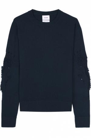 Кашемировый пуловер свободного кроя с фактурной отделкой Barrie. Цвет: зеленый