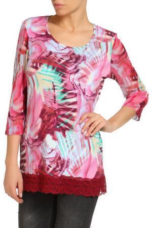 Блуза RITA PFEFFINGER. Цвет: ярко-розовый