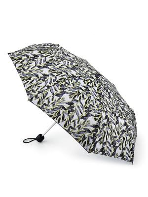 Зонт женский механика Fulton. Цвет: серый