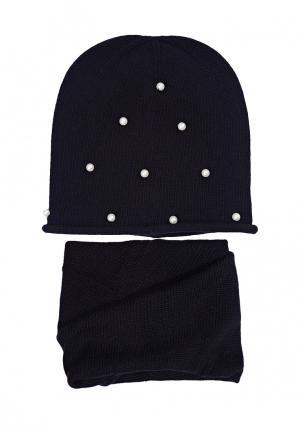 Комплект шапка и шарф FreeSpirit. Цвет: черный