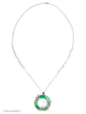 Колье Lastoria. Цвет: зеленый, серебристый