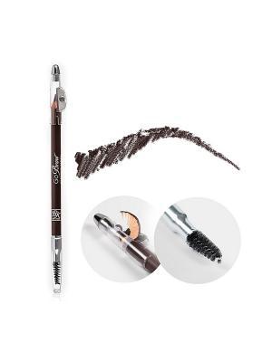 Kiss Карандаш для бровей с точилкой Dark Brown wooden pencil RBWP02. Цвет: коричневый
