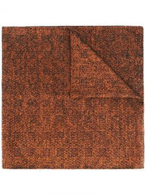 Вязаный шарф Drumohr. Цвет: жёлтый и оранжевый