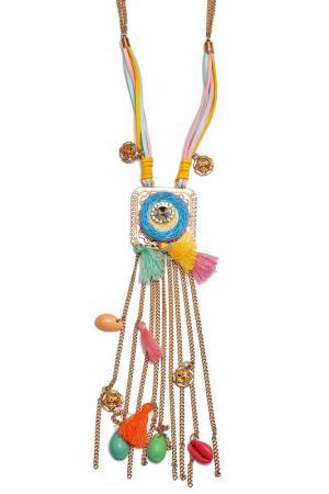 Колье Boho Chic. Цвет: розовый, голубой, желтый, золо