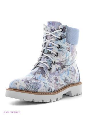 Ботинки Dino Ricci. Цвет: серый, белый