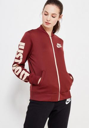 Олимпийка Nike. Цвет: бордовый