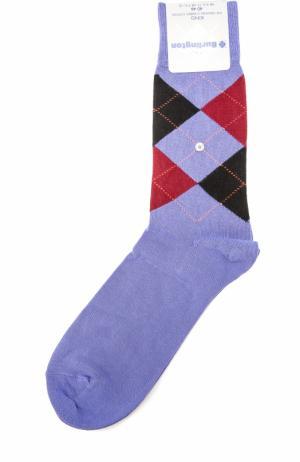 Хлопковые носки King Burlington. Цвет: сиреневый