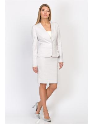 Пиджак EMKA FASHION. Цвет: белый, сиреневый