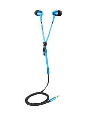 Наушники с кабелем-молнией CNS-TEP1BL CANYON. Цвет: синий