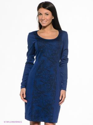 Платье PELICAN. Цвет: темно-синий