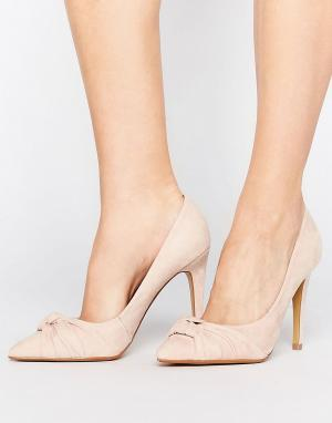 Head Over Heels Туфли-лодочки с острым носком и узелком By Dune Arria. Цвет: бежевый